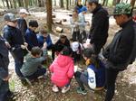 Philippe a fait découvrir plusieurs empreintes d'animaux des bois (renards, cerfs...) aux élèves de CM2.